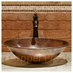 Premier Copper Products Oval Wired Rimmed Vessel Bathroom Sink