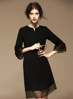 Classical Pure Color Loose Dress