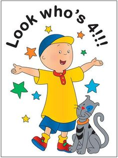Caillou - need this on Aaden's Birthday Cake!