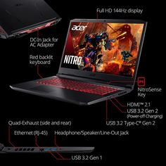 Acer Nitro 5 AN517-54-79L1 Laptop with Windows 11 Listed on Amazon US 2