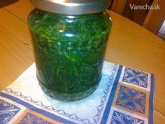Kôpor v octe na zimu (fotorecept) - Recept Korn, Pickles, Cucumber, Mason Jars, Mason Jar, Pickle, Zucchini, Pickling, Glass Jars