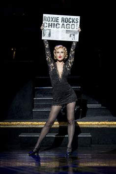 Rumer Willis, daughter of Bruce Willis and Demi Moore, in the role of Roxie Hart, 2015