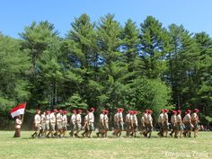 The Medicine Bow staff in the final Sunday Dress Parade of Camp #Yawgoog's 100th anniversary in 2016.  Image by David R. Brierley.