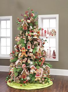 raz-cookie-confections-gingerbread-house-decorated-christmas-tree-3.jpg (660×892)