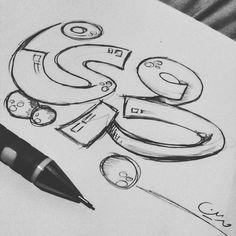 #sketch #pencil #beautiful #lettering #drawing #typography #typo #arabic #خط #خط_حر #تايبوجرافي #كاليجرافي #حروف #سكتش Arabic Calligraphy Art, Calligraphy Quotes, Caligraphy, Font Art, Typography Fonts, Lettering, Graffiti Words, Arabic Design, Advertising Ideas