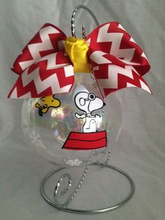 Custom Hand decorated Charlie Brown Snoopy Woodstock by 14Candles