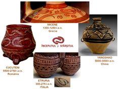 """O spirală rectilinie - pictograma chinezească Hui - este utilizată în scrierea chineză pentru a transmite conceptul de """"călătorie dus-întors"""", iar simbolul chinezesc Jiu (care este identic cu reprezentarea """"începutului şi sfârşitului"""" din simbolistica veche europeană) transmite ideea de """"comunitate"""". China, Decor, Decoration, Decorating, Porcelain, Deco"""