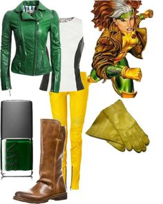 """Rogue (X-Men)"" by mollylsanders on Polyvore"