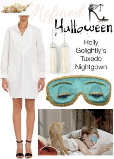 Refined Halloween Holly Golightly Breakfast at Tiffany's