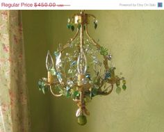 HOLIDAY SALE Chandelier Woodland Summer One of a by queendecor, $405.00