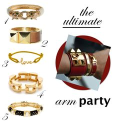 bracelets // ultimate arm party | www.withlovefromkat.com