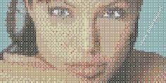 Angelina Jolie. Más plantillas en www.tuburbuja.es