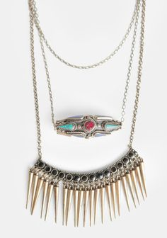 Too Rare To Die Layered Necklace By St. Eve at #threadsence @ThreadSence
