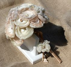 beautiful handmade fabric bouquet