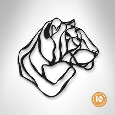 Tiger Trophy wooden sign is a sustainable home design piece by Antoine Tesquier Tedeschi for Respectful Animal Trophy series. Handmade in France. Art Mural 3d, 3d Wall Art, Geometric Wall Art, Metal Wall Decor, Metal Wall Art, Wood Wall, Motif Simple, Sculpture Metal, 3d Cnc