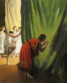 In The Wings Artwork By Dame Laura Knight Hand-painted And Art Prints On Canvas For Sale,you Can Custom The Size And Frame Oil Painting On Canvas, Canvas Art Prints, Painting Art, Paintings, Knight Art, Vintage Artwork, Oil Painting Reproductions, Art Themes, Illustrations
