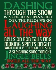 Jingle Bells Subway Art Printables