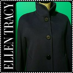 Ellen Tracy Wool Angora Coat