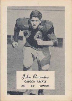 1956 Oregon junior tackle John Raventos. www.SportingOregon.com