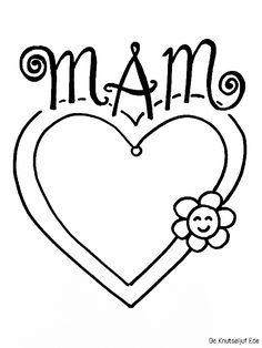 Voor mama - Fotolijstjes om te kleuren - voor Moederdag | Kleurplaat kleurplaten fotolijstje-mam | Moederdag Moeders mamma-mams | Kinderen kids kleuren-tekening (6)