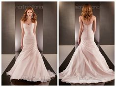 Fit and Flare Cross Sweetheart Neckline Ruched Bodice Wedding Dresses