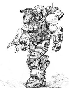 RIFTS NG Med Rescue White Knight Power Armor by ChuckWalton on deviantART