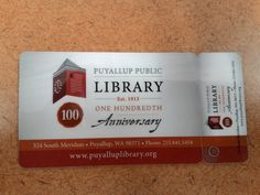 Puyallup Public Library - Puyallup, WA, United States. It's official, I'm card carrying member of bookwormville!