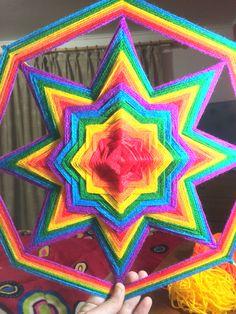 Weaving Art, Tapestry Weaving, God's Eye Craft, Dream Catcher Art, Yarn Wall Art, Dorset Buttons, Gods Eye, String Art, Mandala Art