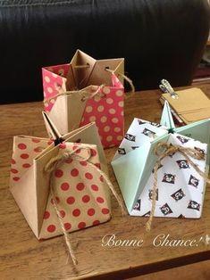 5 paper origami star box More