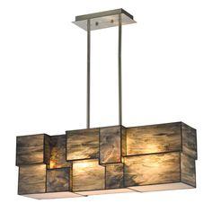 Elk Lighting 72073-4-LED Cubist 4 Light LED Linear Chandelier Brushed Nickel Indoor Lighting Chandeliers