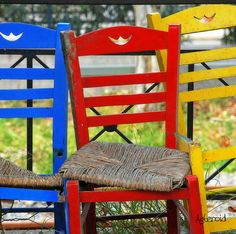 primary chairs #red #blue #yellow