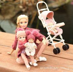 Barbie Kids, Barbie Dolls Diy, Barbie Fashionista Dolls, Diy Barbie Clothes, Barbie Doll House, Juste Zoe, Barbie Happy Family, Accessoires Barbie, Barbie Playsets