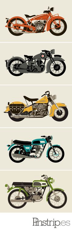 motorcycle prints from Methane Studios