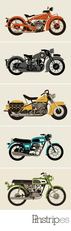 motorcycle prints from Methane Studios