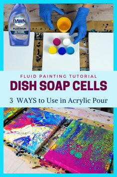 Acrylic Pouring with Dish Soap &;Ways To Create Cells without Silicone Acrylic Pouring with Dish Soap &;Ways To Create Cells without Silicone Iris Speth irispe Pouring Acrylic […] painting diy Acrylic Pouring Techniques, Acrylic Pouring Art, Acrylic Art, Pour Painting, Diy Painting, Acrylic Painting For Kids, Flow Painting, Creation Deco, Diy Canvas
