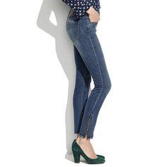 Five: Skinny Skinny Ankle-Zip Jeans in Pool Wash