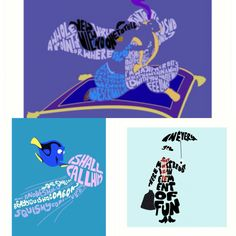 20% off prints in [my store|www.redbubble.com/people/alan2903] #disney #typography #marypoppins #findingnemo #aladdin #magiccarpet