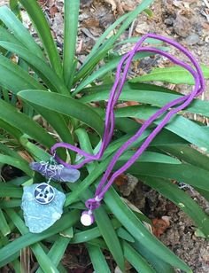 Divine Abundance and Love Pendant with Silver Pentacle Button