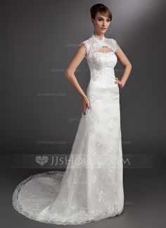 Wedding Dresses - $192.99 - A-Line/Princess Sweetheart Court Train Satin Lace Wedding Dress With Beadwork (002000178) http://jjshouse.com/A-Line-Princess-Sweetheart-Court-Train-Satin-Lace-Wedding-Dress-With-Beadwork-002000178-g178?ver=xdegc7h0