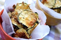 Baked Zucchini Chips with Parmesan | 23 Healthier Alternatives To Potato Chips