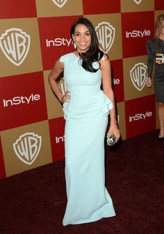 Golden Globes presenter Rosario Dawson.