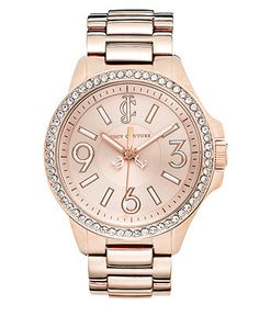 Juicy Couture Watch, Women's Jetsetter Rose Gold-Tone Stainless Steel Bracelet 38mm 1900960 - Women's Watches - Jewelry & Watches - Macy's