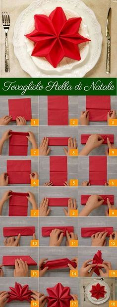 ideas DIY Christmas table decorations ideas napkin folds for 2019 (no title) Christmas napkins and unusual folding ideas - Christmas party - All about ChristmasFancy Christmas Napkin Folding Ideas - Christmas Party - All Christmas Napkin Folding, Christmas Tree Napkins, Christmas Table Settings, Christmas Star, Christmas Decorations, Table Decorations, Christmas Carol, Amazon Christmas, Origami Christmas