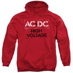 3c2a873f655cb9 AC DC High Voltage Stencil Hoodie