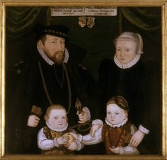 1565 Unknown artist - Johann Wilhelm, Duke of Saxe-Weimar, his wife Dorothea Susanne of Simmern and their two eldest children Friedrich Wilhelm I, Duke of Saxe-Weimar and Sibylle Marie