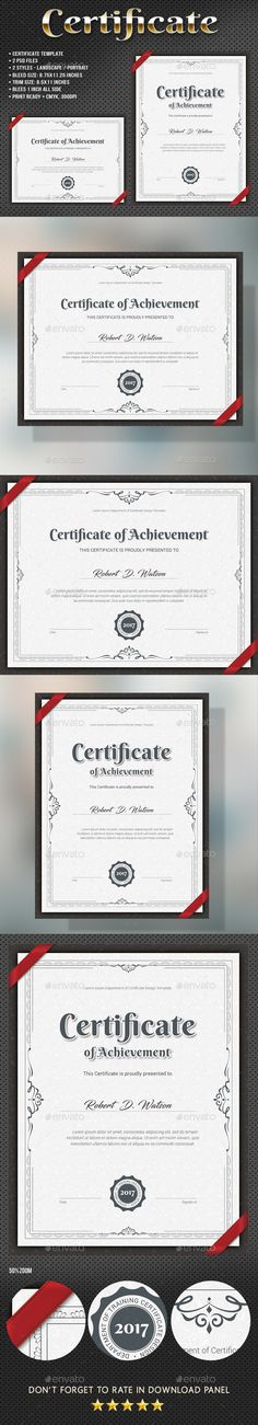 Clean Modern Certificate  Certificate Template And Modern