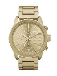 Diesel DZ5302 Gold Dial women's Chronograph watch