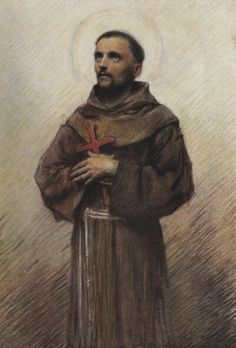 eugène burnand --St Francis of Assisi Religious Images, Religious Art, Catholic Art, Roman Catholic, St Francisco, Patron Saint Of Animals, St Clare's, Francis Of Assisi, Sacred Art
