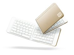 Casestudi Folding Bluetooth Keyboard (Gold) | This Handy Wireless Keyboard Folds Up for Easy Transport