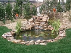 43 Stunning Garden Pond Waterfall Design Ideas - Home/Decor/Diy/Design